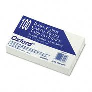 Oxford Unruled Index Cards, 3 x 5, White, 100 per Pack at Sears.com