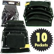 Trademark Tools Professional 10 Pocket Leather Tool Bag Pouch - Black at Craftsman.com