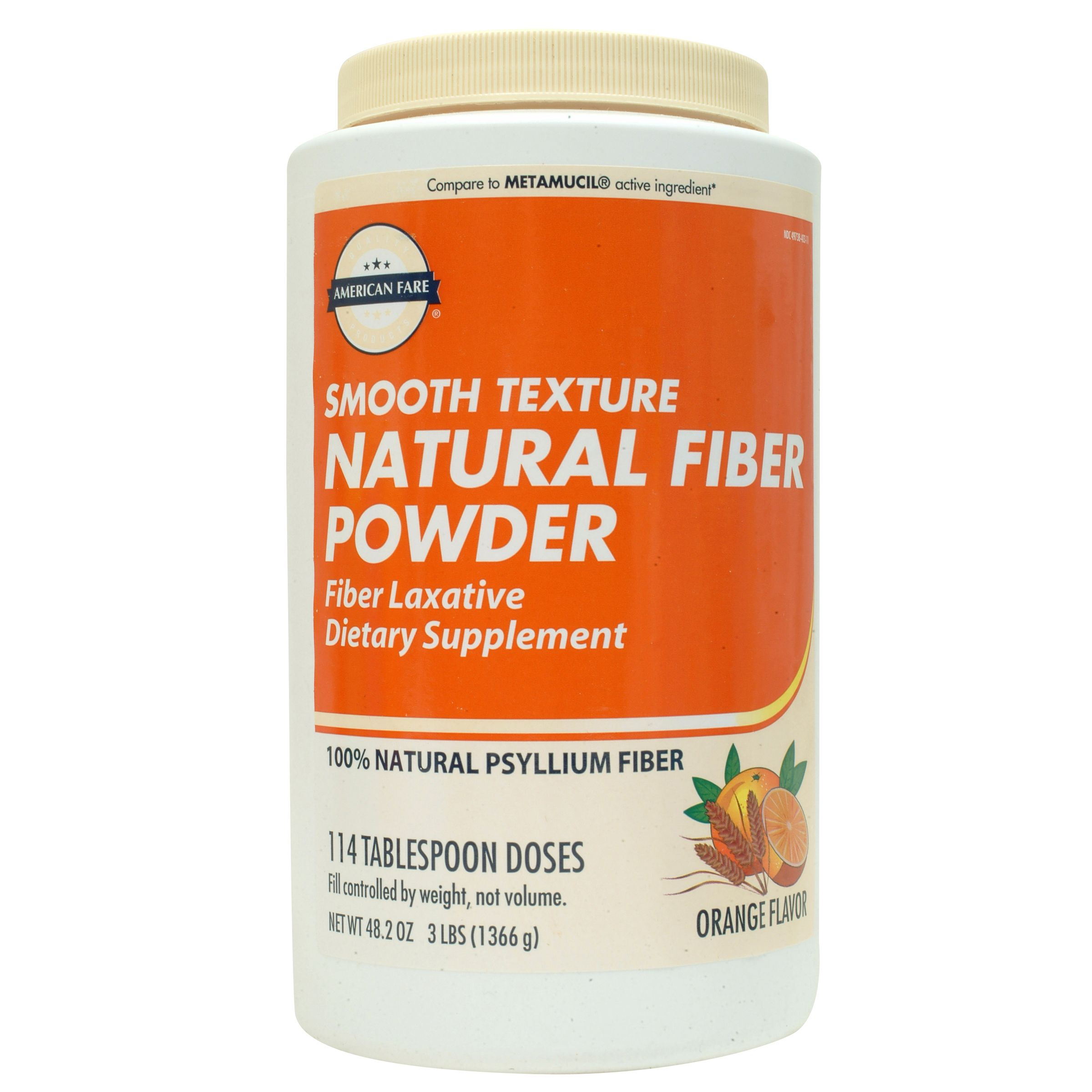 Smooth Texture Fiber Powder Orange 48.2 Ounce