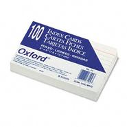 Oxford Ruled Index Cards, 3 x 5, White, 100 per Pack at Kmart.com