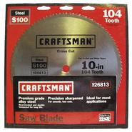 Craftsman 10 in. Saw Blade, Heat-Treated Steel - 104T at Sears.com