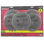 Craftsman 7-1/4 in. Steel Saw Blade Variety - 5 pack at Sears.com