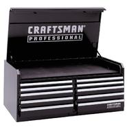 Craftsman Professional 10-Drawer Ball Bearing Tool Chest, 56 in. Wide, Black at Craftsman.com