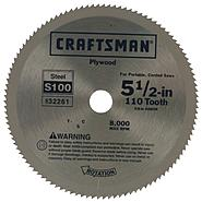 Craftsman 5-1/2 in. Steel Blade for Portable, Corded Saws - 110T at Sears.com