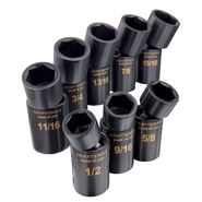 Craftsman 8 pc. Standard Easy to Read Swivel Impact Socket Set, 6 pt. 1/2 in. Drive at Craftsman.com