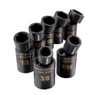 Craftsman 7 pc. Standard Easy to Read Swivel Impact Socket Set, 6 pt. 3/8 in. Drive at Craftsman.com