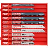 Craftsman 10 pc. Jigsaw Blade Set, T-Shank, Multi-Purpose at Craftsman.com