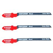 Craftsman 4 in. Jigsaw Blades, Wood, 14 TPI, 3 pk. at Craftsman.com