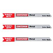 Craftsman 4 in. Jigsaw Blades, Thick Metal, 18 TPI, 3 pk. at Craftsman.com