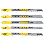 Craftsman Professional 4 in. Bimetal Jigsaw Blades, Wood, 10 TPI, 5 pk. at Craftsman.com