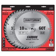 Craftsman 10 in. Blade Pack 40T and 60T Carbide Teeth at Craftsman.com