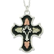 Black Hills Gold Tricolor Sterling Silver Antiqued Cross Pendant at Sears.com