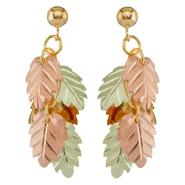 Black Hills Gold Tricolor 10K Dangling Leaf Cluster Earrings at Kmart.com