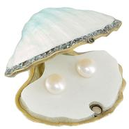 Pearl Button Earrings. 10K Yellow Gold at Sears.com