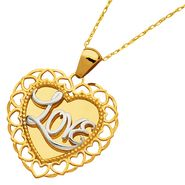 Reversible Heart Love Pendant. 10K Yellow Gold at Sears.com