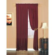 Essential Home Luxury Crushed Faux Silk Window Panel Burgundy at Kmart.com