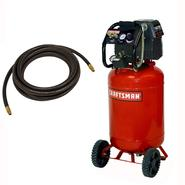 Craftsman 20 Gallon Portable Vertical Air Compressor with Hose and 9PC Accessory Kit at Craftsman.com