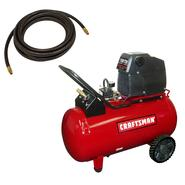 Craftsman 20 Gallon Portable Horizontal Air Compressor with Hose and Kit at Craftsman.com
