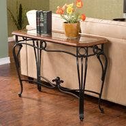 Southern Enterprises, Inc. Prentice Glass Top Living Room Sofa Table - Dark Cherry at Sears.com