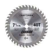 Craftsman Carbide 7 1/4 in. 40T Smooth and Crosscut Saw Blade at Sears.com