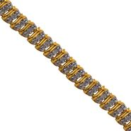 1/2 cttw Diamond Bar 8in Bracelet in 18K Yellow Gold Over Sterling Silver at Kmart.com