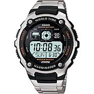 Casio Mens Calendar Day/Date Watch w/Round Digital Dial and Silvertone Expansion Band at Sears.com