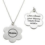 "Silver Earth Bloom"" Flower Pendant in Sterling Silver at Sears.com"