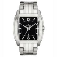 Bulova Mens Calendar Date Watch with Black Dial and Stainless Steel Expansion Band at Sears.com