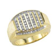 1/2 cttw Diamond Mens Ring in 18K Gold Over Sterling Silver at Sears.com
