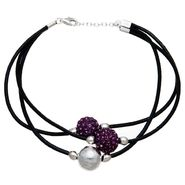 Purple Crystal Multi Strand Cord Bracelet at Sears.com