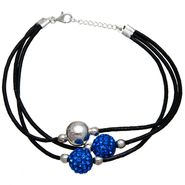 Blue Crystal Multi Strand Cord Bracelet at Sears.com