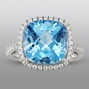 Zeghani Blue Topaz Ring at Sears.com