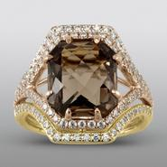 Zeghani Smokey Quartz Ring with Simulated Diamonds at Sears.com