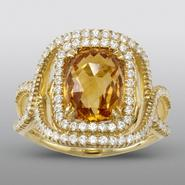 Zeghani Citrine Ring with Simulated Diamonds at Sears.com