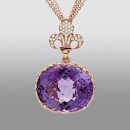 Zeghani Amethyst Pendant with Simulated Diamonds at Sears.com