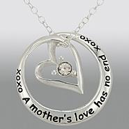 Sterling Silver and Cubic Zirconia Mother/Daughter Circled Heart Pendant at Kmart.com