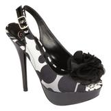 Delicious Womens Alano Printed Flower Sling - Black/White at mygofer.com