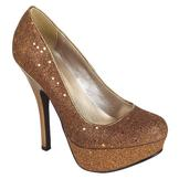 Qupid Women's Cailin Pump - Bronze at mygofer.com