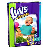 Luvs Ultra Leakguards, Size 2 (12-18 lb), Bear Hug Stretch, Mega, 74 diapers at mygofer.com
