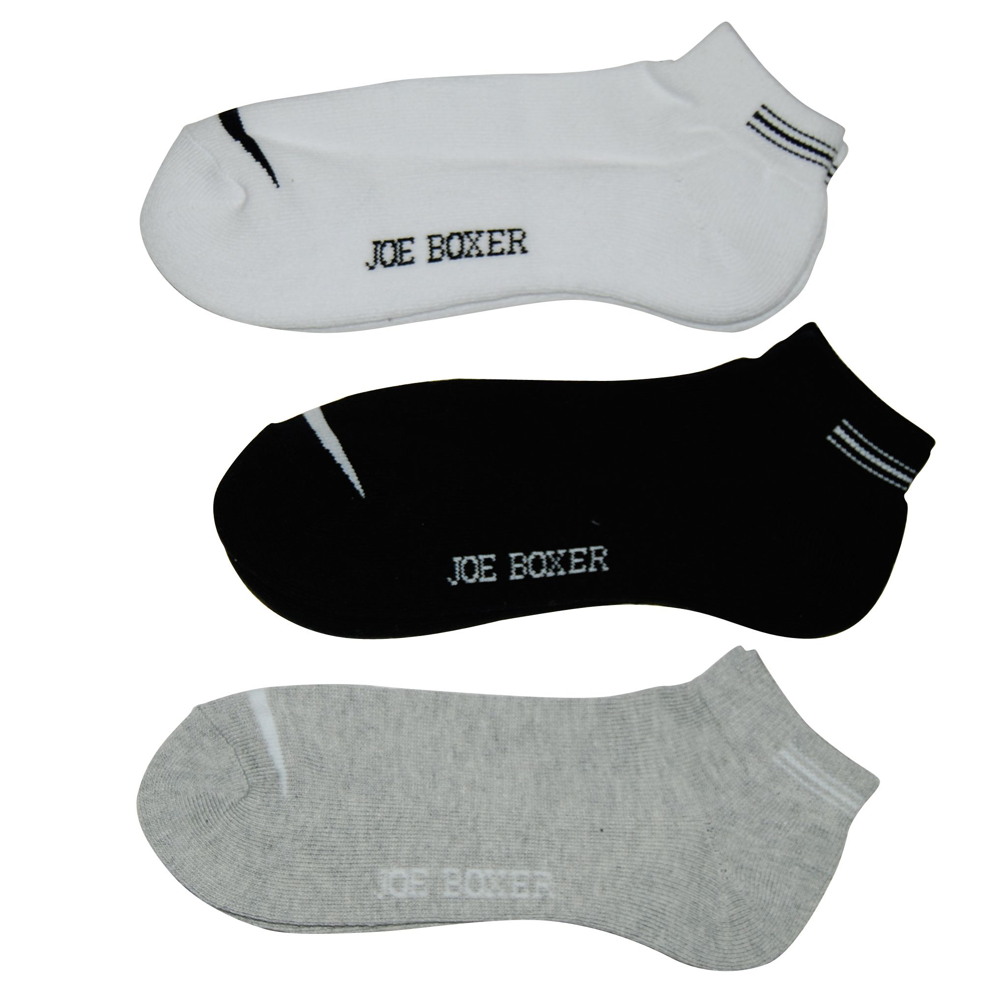 Boy's 3 Pack Quarter Socks with Accent -