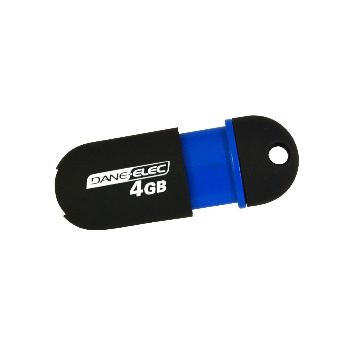 USB 2.0 4GB Flash Memory Drive - Black, Blue