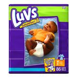 Luvs Diapers Mega 86 Count Size 1 8-14 Pounds Soft Pack at mygofer.com