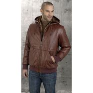 Excelled Men's Leather Ostrich Embossed Reversible Jacket at Kmart.com