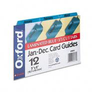 Oxford Manila Index Card Guides with Laminated Tabs at Kmart.com