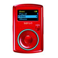 SanDisk MP3 Player, Sansa Clip 4GB Red at Kmart.com