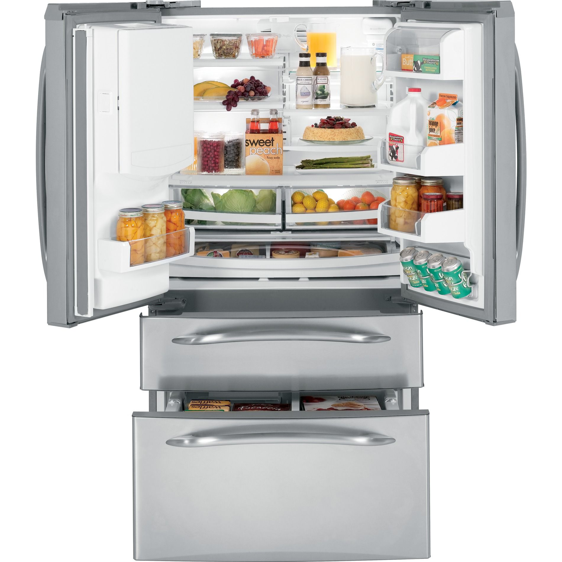 Profile™ Series 20.7 cu. ft. French-Door Bottom-Freezer Refrigerator - Stainless Steel                                     at mygofer.com