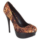 Qupid Women's Nessa Platform Pump - Camel Multi at mygofer.com