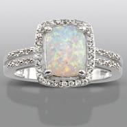 Lab Created Opal & Lab Created White Sapphire Ring at Sears.com