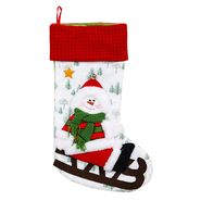 "23""stocking w/snowman (green scarf) at Kmart.com"
