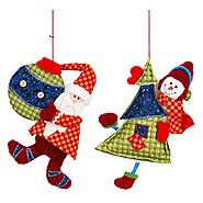 "6""santa/snowman hang set/2 at Kmart.com"